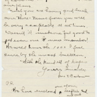 Letter from Sara Callow to Emma Smith DeVoe, 2/7/1908, page 4