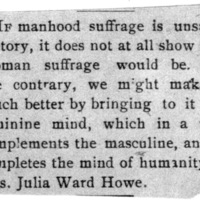 Page 008 : [news clipping: Suffrage Thoughts from Julia Ward Howe]
