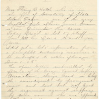Letter from LaReine Baker to unknown recipient, 10/26/1908, page 1