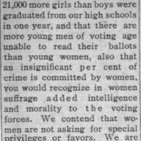 Page 060 : [Suffrage Would Add Intelligence and Morality to the Voting Forces]