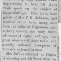 Page 30 : [news clipping: Emma Smith DeVoe in Highmore]