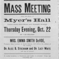 Page 20 : Equal Suffrage Meeting flyer