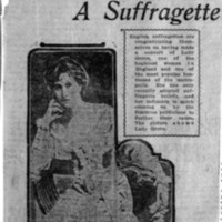Page 178 : Lady Grove a Suffragette