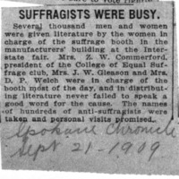 Page 169 : Suffragists Were Busy.