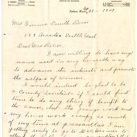 Letter from Augusta Kegley to Emma Smith DeVoe, 9/21/1909, page 1