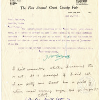 Letter from J. Taylor to 'Dear Madam', 8/14/1911