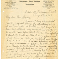 Letter from Abbie Danforth to Emma Smith DeVoe, 8/30/1908, page 1