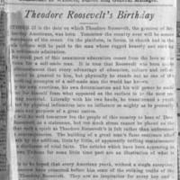 Page 031 : Theodore Roosevelt's birthday