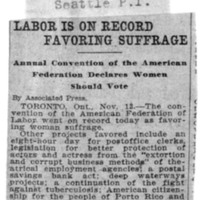 Page 060 : Labor Is On Record Favoring Suffrage