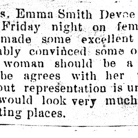 Page 057 : [news clipping: Review of Emma Smith DeVoe lecture at Swanwick]
