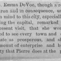 Page 30 : [news clipping: Emma Smith DeVoe remarks about prosperity]