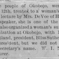 Page 29 : [news clipping: Emma Smith DeVoe in Okobojo]