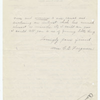 Letter from Cora Ferguson to Emma Smith DeVoe, 4/2/1910, page 2