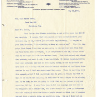 Letter from Harriet Upton to Emma Smith DeVoe, 5/31/1906, page 1