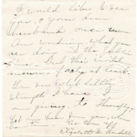 Letter from Elizabeth Wardall to 'My Dear', 1/16/1912, page 3