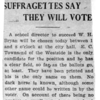 Page 009 : Suffragettes Say They Will Vote