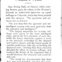 Page 017 : General Hale on Colorado Women's Votes