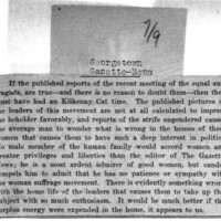 Page 101 : [news clipping: Suffragists' Surplus Energy Should be Spent at Home]
