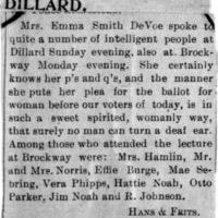 Page 096 : [news clipping: DeVoe at Dillard]