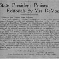 Page 032 : State President Praises Editorials By Mrs. DeVoe