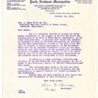 Letter from Charles Haines to Emma Smith DeVoe, 10/18/1912