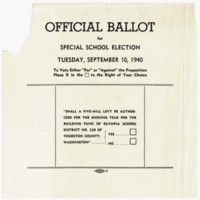 Page 003 : Official Ballot for Special School Election