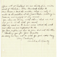 Letter from Amelia Handy to Emma Smith DeVoe, 4/8/1912, page 2