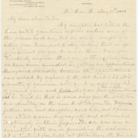 Letter from C. Flint to Emma Smith DeVoe, 5/11/1892, page 1