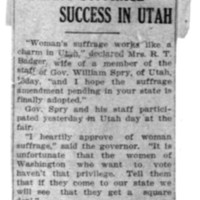 Page 147 : Woman's Suffrage Success in Utah