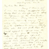 Letter from Adella Parker to May Arkwright Hutton, 12/11/1908, page 1