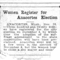 Page 102 : Women Register For Anacortes Election
