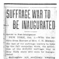 Page 005 : Suffrage War To Be Inaugurated
