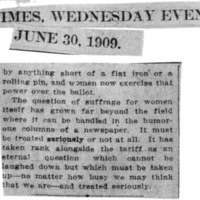 Page 052 : [news clipping: Suffrage Should be Taken Seriously]