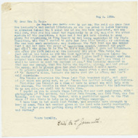 Letter from Edith Jarmuth to Emma Smith DeVoe, 8/5/1908, page 1