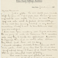 Letter from Sara Callow to Emma Smith DeVoe, 1/8/1908, page 1