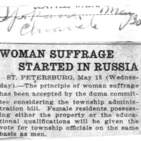 Page 152 : Woman Suffrage Started in Russia