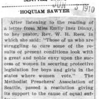 Page 159 : [The Methodist Preachers' Association in Support of Suffrage]