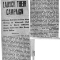 Page 138 : Suffragists Launch Their Campaign