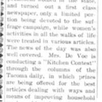 Page 153 : [Mrs. DeVoe in the Tacoma News]