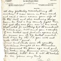 Letter from Harry Ferguson to Emma Smith DeVoe, 11/9/1910, page 2