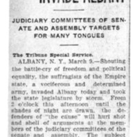 Page 015 : Suffragettes Invade Albany: Judiciary Committees of Senate and Assembly Targets for Many Tongues