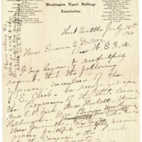 Letter from Elizabeth Wardall to Emma Smith DeVoe, 7/18/1908, page 1
