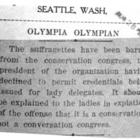 Page 115 : [Suffragettes Barred from Conservation Congress]