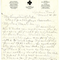 Letter from Lena Allen to Emma Smith Devoe, 3/25/1908, page 1
