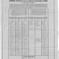 Page 011 : Sample Ballot -- General Election November 5, 1912