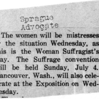 Page 063 : [news clipping: Woman's Suffrage Day]