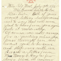 Letter from Wilder Nutting to Emma Smith DeVoe, 7/12/1895, page 1