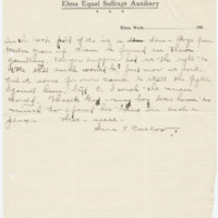 Letter from Sara Callow to Emma Smith DeVoe, 1/8/1908, page 3