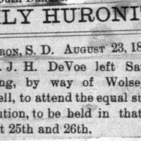 Page 52 : [news clipping: J.H. DeVoe Travels to Convention]