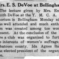 Page 131 : Mrs. E.S. DeVoe at Bellingham.